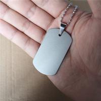 Süblimasyon boş Ordu kartı köpek etiketi kolye kolye sıcak transferi boş diy özel kolye kolye sarf