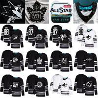 2019 Tüm Yıldız Oyunu hokey formaları San Jose Sharks chicago blackhawks Hokeyi Formalar Edmonton Oilers Vegas Altın Şövalyeleri Toronto Maple Leafs