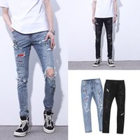 2020SS un des hommes Distressed Jeans Ripped motard miri Slim Fit Pantelons Denim Biker Fashion Designer Hip Hop Hommes Jeans HQ11 haute de qualité