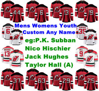 P. K. mujer de Nueva Jersey Devils jerseys Subban Jersey Taylor Pasillo Kyle Palmieri Nico Hischier Hughes hockey sobre hielo de los jerseys Personalizar cosido