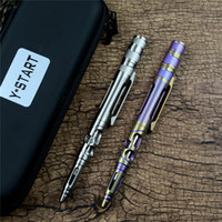 Y- START EDC Tactical pen YP08 Titanium alloy handle with LED...