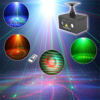 Mini Uzaktan 20 Desenler RG Sahne Lazer Projektör Aydınlatma Etkisi DJ Parti Dans Disko Led RGB Su Galaxy Dekorasyon Işık 110 V-240 V