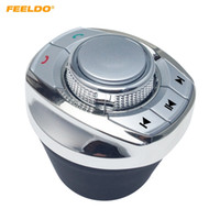 Feeldo Yeni Kupası Şekil 8 Kullanıcı Tanımlı Fonksiyonlar Araba Araba Android DVD / GPS Navigasyon Oynatıcı için Araba Kablosuz Direksiyon Simidi Kontrolü Düğmesi # 5677