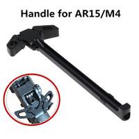 알루미늄 나비 펄프 화 기계 프리미엄 충전 핸들 블랙 AR 금속 양손 핸들 도구 부품 (223)