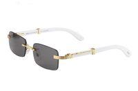 Yeni 2020 Ahşap Güneş gözlüğü Erkekler Ahşap Buffalo Horn Güneş Bayan Moda Erkek Ayna Rimless Bambu Güneş Gözlükleri óculos de sol masculino gözlük