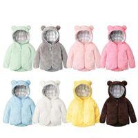 Kinder-Designerkleidung für Winter-Samtmantel Jungen-Karikatur Bär Outwear Mädchen Zipper Fleece-Jacke Tops Trenchcoat Hoodies Sweatshirt DYP7125
