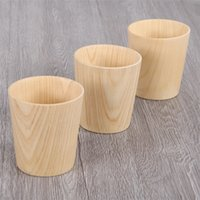 Creative Solid Wood Milk Cup Large Capacity Drinking Tea The...