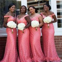 Fashion African Sequined Bridesmaid Dresses 2020 Cheap Long ...