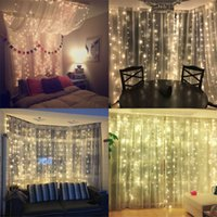 2x2 3x3 6x3m led icicle led curtain fairy string light fairy...