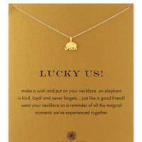 Mit karte süße Dogeared Halskette mit Elefantenanhänger Glück Glückselefant Halskette Segenkarte Halsketten