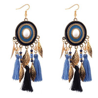 Bohemian Style Tassel Earrings Ethnic Handmade Long Earrings...