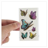 Colorful Butterfly Body Art Temporary Tattoos Women Sexy Wat...