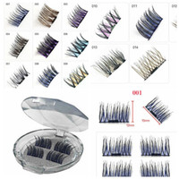 4pcs pair colorful Magnetic Eye Lashes Colorful False Eyelas...