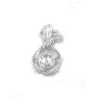 Vintage Stil S925 İnci kolye kolye Ayar Montaj Tabanı% 100 Katı 925 Gümüş Yarı Dağı Kadın Takı DIY Bulguları DZ045