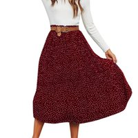 Polka Dot Large Swing Skirt 2019 Spring Summer High Waist Fe...