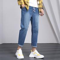 Erkek Kot 2021 Uyuk İlkbahar ve Sonbahar Gevşek Küçük Düz Bacak Geniş-Bacak Pantolon Gençlik Homme Hip Hop Streetwear