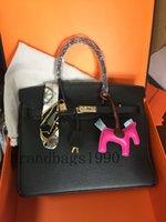 Модная сумка 35 см 30 см 25 см Женщины TOTES Сумки с штампованным замком Натуральная кожа Коскин Леди Сумка Skarf House Charm