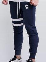 새로운 체육관 피트니스 의류 남자 바지 캐주얼 스키니 바지 보디 빌딩 체육관 바지 남성 조깅 탄성 검은 색 회색 스웨트 팬츠