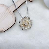 Papatya Kolye kolye moda Düğün takı Güzel İmitasyon 925 Gümüş Takı Kaplama Gümüş Kolye Canlı ayçiçeği