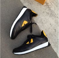 Top Quality FD cravado sapatos FUN luxo de designer PELE da sapatilha de couro genuíno de presente, homens, mulheres Racer Hot venda Sports Chunky formadores