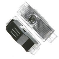 Araba kapının erişimci Araç A3, A4 Q5 Q7 TT A5, A8 A1 A8L A6L Q3 R8 için logo projektör karşılama led lamba hayalet gölge farları