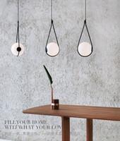 İskandinav cam top abajur kolye ışık başucu damla lamba yemek masası hanglamp için İtalya tasarımcı hafif süspansiyon armatür