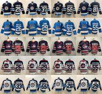 2019 Winnipeg Jets Hockey 55 Mark Scheifele Jersey 33 Dustin Byfuglien 26 Blake Wheeler 29 Patrik Laine 25 Paul Stastny 37 Connor Hellebuyck