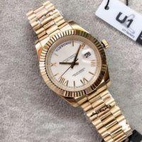 18 ct Gold Uomo Ginevra Guarda Ginevra Bianco quadrante romano Mens Luxury Automatico Daydate Uomo Moda uomo Mens Reloj orologi orologi da polso 228238
