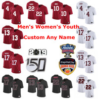 Alabama Crimson Tide College Football Jerseys Crianças Juventude Tua Tagovailoa Jersey Jerry Jeudy Jaylen Waddle Najee Harris costurado vermelho personalizado
