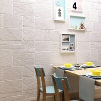 Self- adhesive wallpaper 3d solid wall tiling brick children&...