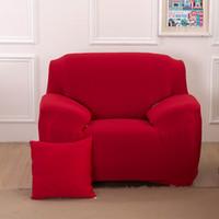 الصلبة اللون أريكة الغلاف غير زلة مطاطا صوفا أغطية وسائد لينة مريحة للتنفس قابل للغسل غطاء الأريكة لغرفة الجلوس DBC VT0912