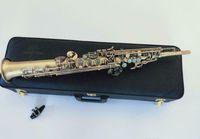 Antico rame Giappone Yanagisawa S-990 S-990 Soprano Modello sassofono Body in rame antico con accessori Caso di pelle