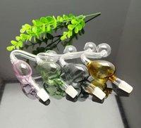Nouveau pot pêche coeur-couleur et accessoires cigarette verre Bongs verre pipe Pipes eau huile Rig verre bols de brûleurs à mazout