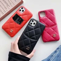 para Iphone 11 PRO MAX X XR Xs Max 6 S 7 8plus couro real Protect Card Case Titular Designer Telefone CaseLuxury Moda Paris Show Case Telefone