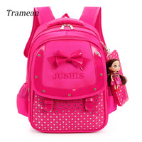 Girl' s School Bags Cartoon Pattern Kid image Backpack w...