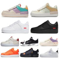 supreme Nike Air Force 1 AF1 One Forces 1 Dunk Men 1 Utility Classic Black White Women Casual Shoes Green Skateboard High Low Cut Entrenadores deportivos Wheaters tamaño 36-45
