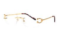 France lunettes miroir simple corne de buffle designer marque sans cadre jambes en métal doré lunettes de soleil lunettes optique des lunettes de soleil