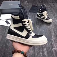 2021 Mode Hommes Bottes Noir Véritable Chaussures en cuir pour homme Haute Top mâle Chaussures décontractées 15 # 23 / 20D50
