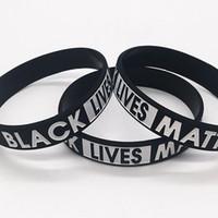 Vidas negro Materia pulsera de caucho de silicona muñeca del deporte de la venda del brazalete Para Hombres Mujeres LJJK2184 regalo