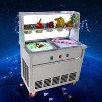 ETL CE RoHS-certifiering FDA Amerika Kanada Franchises Singel Square Pan Rolled Fry Fried Ice Cream Roll Machine