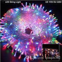 DZ10 50M 400Leds Fairy LED String Light impermeable al aire libre AC220V cadena de navidad guirnalda para la boda de Navidad fiesta de Navidad