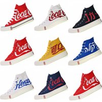2019 New Three Party Consortium KITH Coca 1970s Cola High Canvas Classic 1970s Cola Crystal Sole Zapatos casuales Tamaño 35-44
