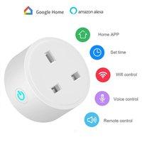 16A UK UE WiFi Smart Plug avec Alexa Google Accueil Audio Voilo Wireless App Control Smart Socket Sortie via téléphone Android IOS Téléphone