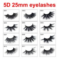 Ciglia 5D 25mm 17 Stili Lunghi Drammatici 25mm Lunghi e spessi eyelash Handmade Ciglia finte Eye Makeup 2pcs = 1pair = 1box = 1 lotto