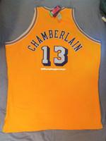 Mitchell Ness Mn # 13 Wilt Chamberlain genäht Top Jersey NWT Mens Weste Größe XS-6XL Nähte Basketball-Trikots NCAA