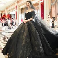 2021 heißer verkauf top qualität sexy schwarzes brautkleid für hochzeit fotografie braut feier klassische schulter schule up weiße kleider