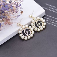 Marca Pearl Ornament Studs Fashion G Design Shinning Women Earring Outdoor Female Charm Colgante Studs Jewelry