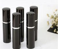 리필 병 블랙 컬러 5ml 10ml 미니 휴대용 재충전 가능한 향수 분무기 스프레이 병 빈 병 화장품 용기 병