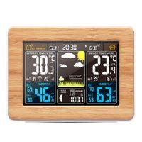 منبه ساعة رقمية درجة الحرارة استشعار الرطوبة مقياس مكتب توقعات محطة الطقس الإلكترونية الجدول ساعات
