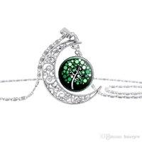 Collana dell'oggetto d'antiquariato della luna Necklace Fashion Jewelry Choker Silver Tree Of Life Dichiarazione dei pendenti delle collane